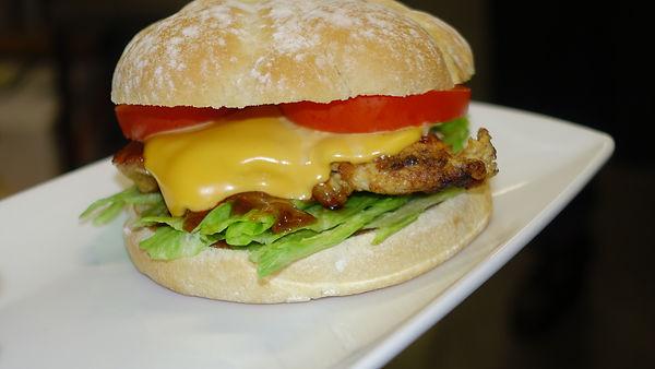 A Juicy Chicken Burger