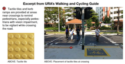 Tactile tile URA walking cycling guide