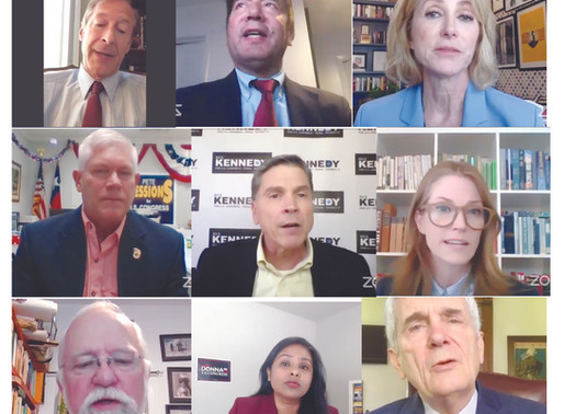 Zoom Candidate Forum #2:  Congressional Districts 17, 21,25, 31, and 35
