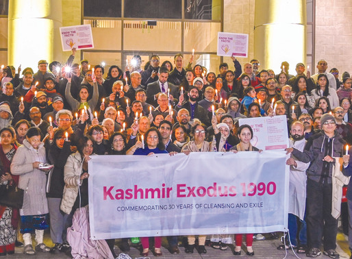 Candlelight Vigil And Proclamation Of  Kashmiri Pandit Exodus Recognition Day