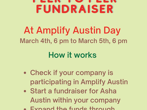 Support Asha Austin At Amplify Austin Day On March 4th-5th!