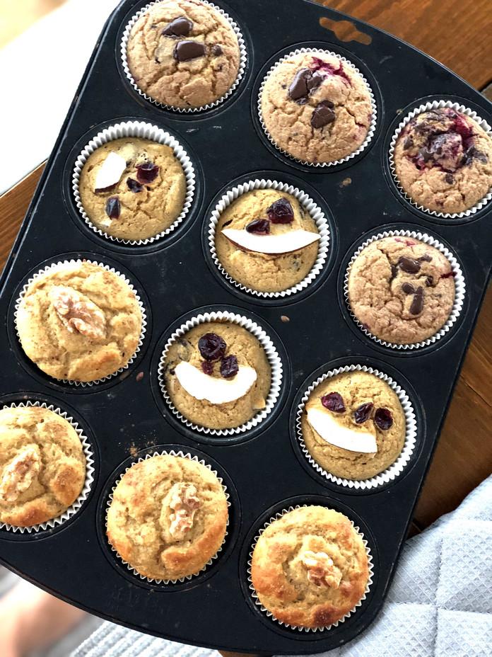 Gesunde Muffins ohne Zucker und zugefügtem Fett