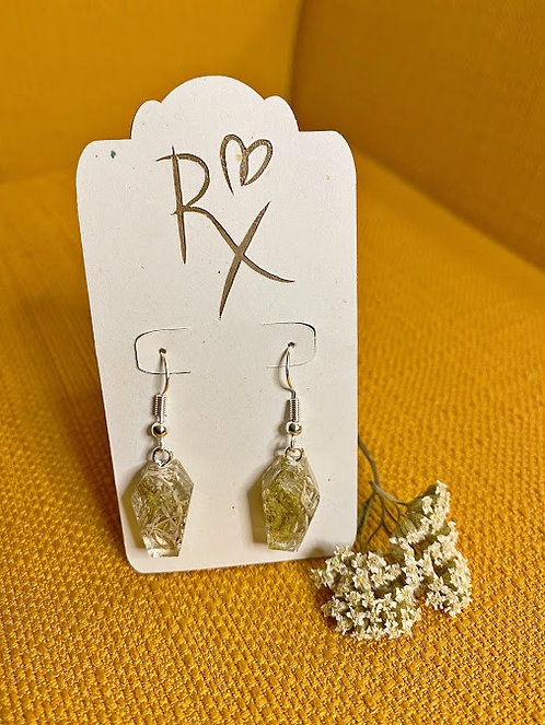 Mossy Coffin Dangle Earrings