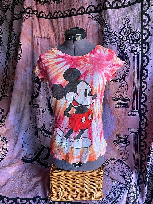 P'Orange Tie Dye Mickey Tee
