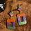 Thumbnail: Halloween Dangles - Purple/Orange/Green