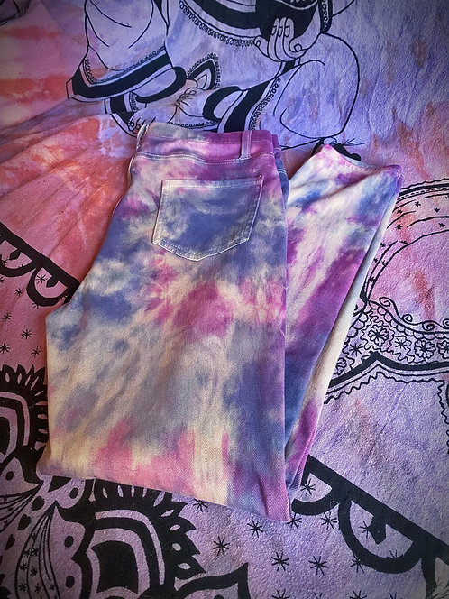 Tie Dye Stretch Pants - Size 12