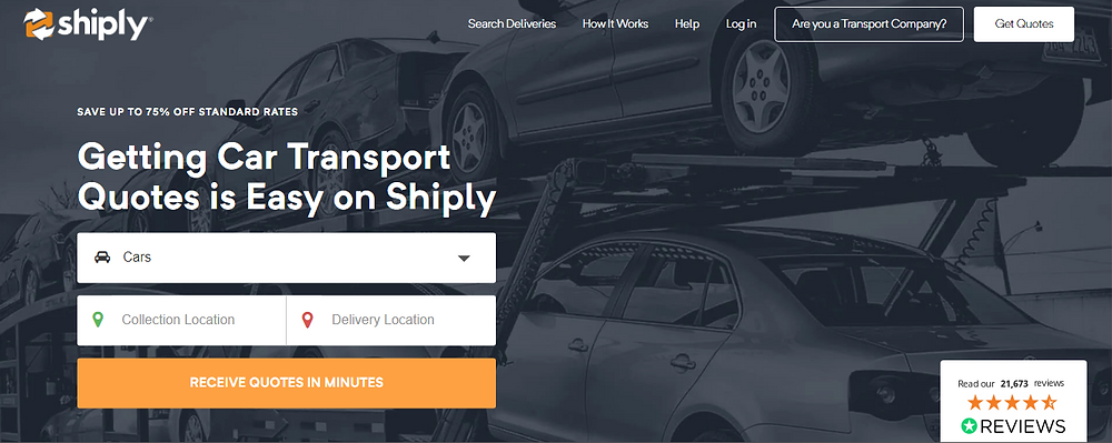cheap car delivery companies with shiply