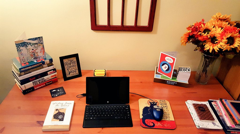 My writing desk and space at the start of the new year!