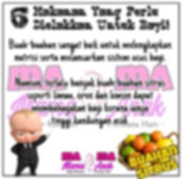 6 Makanan Yang Perlu Dielakkan Untuk Bayi