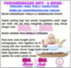 Memperkenalkan Makanan Kepada Bayi (6 Bulan)