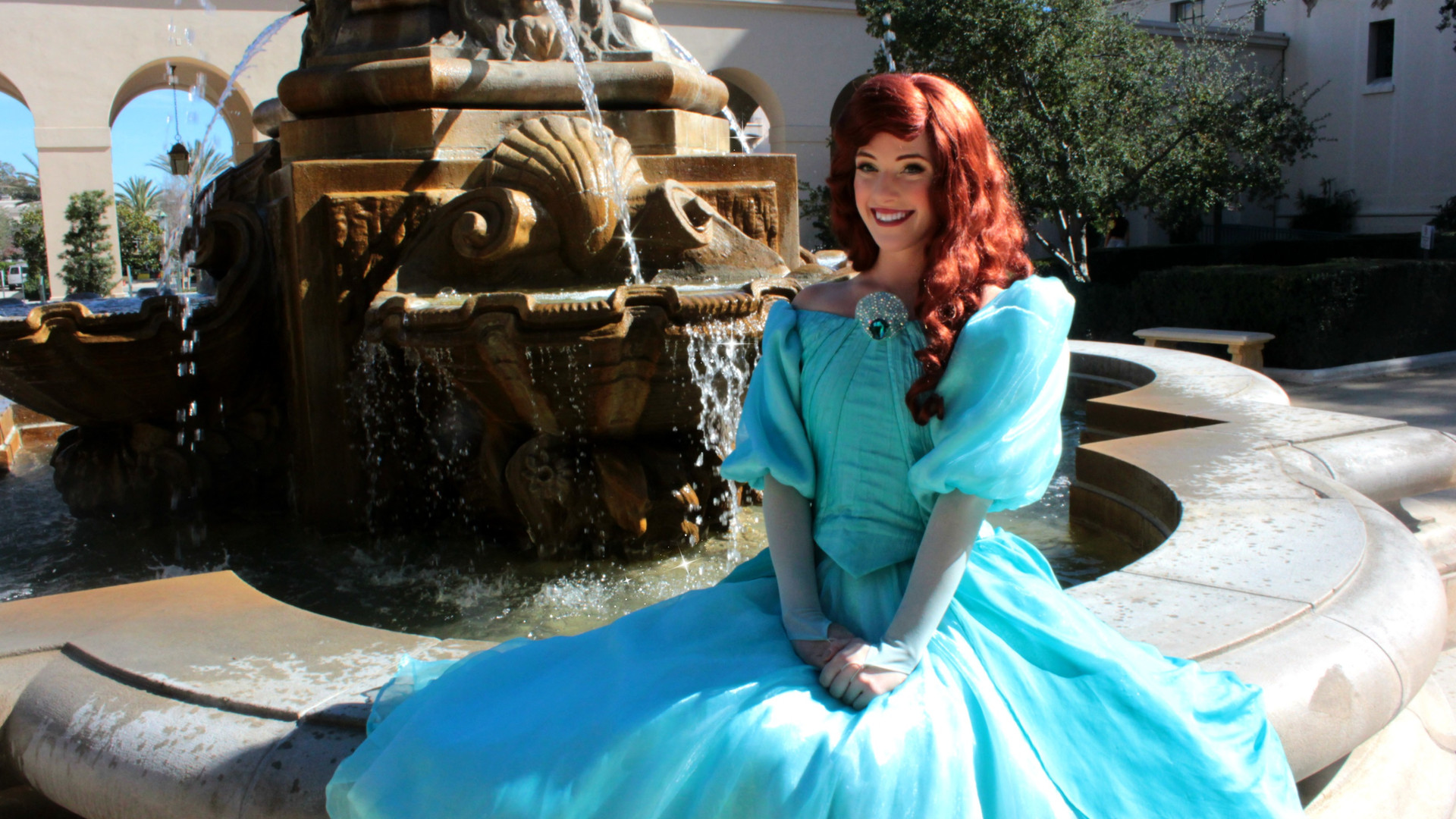 ariel the little mermaid princess party character los angeles