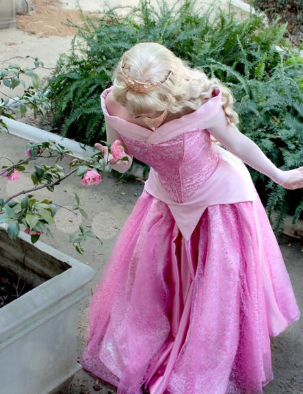 sleeping beauty aurora princess party character face los angeles