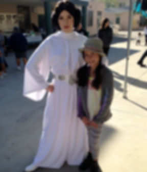 leia star wards jedi party character los angeles kid birthday performer
