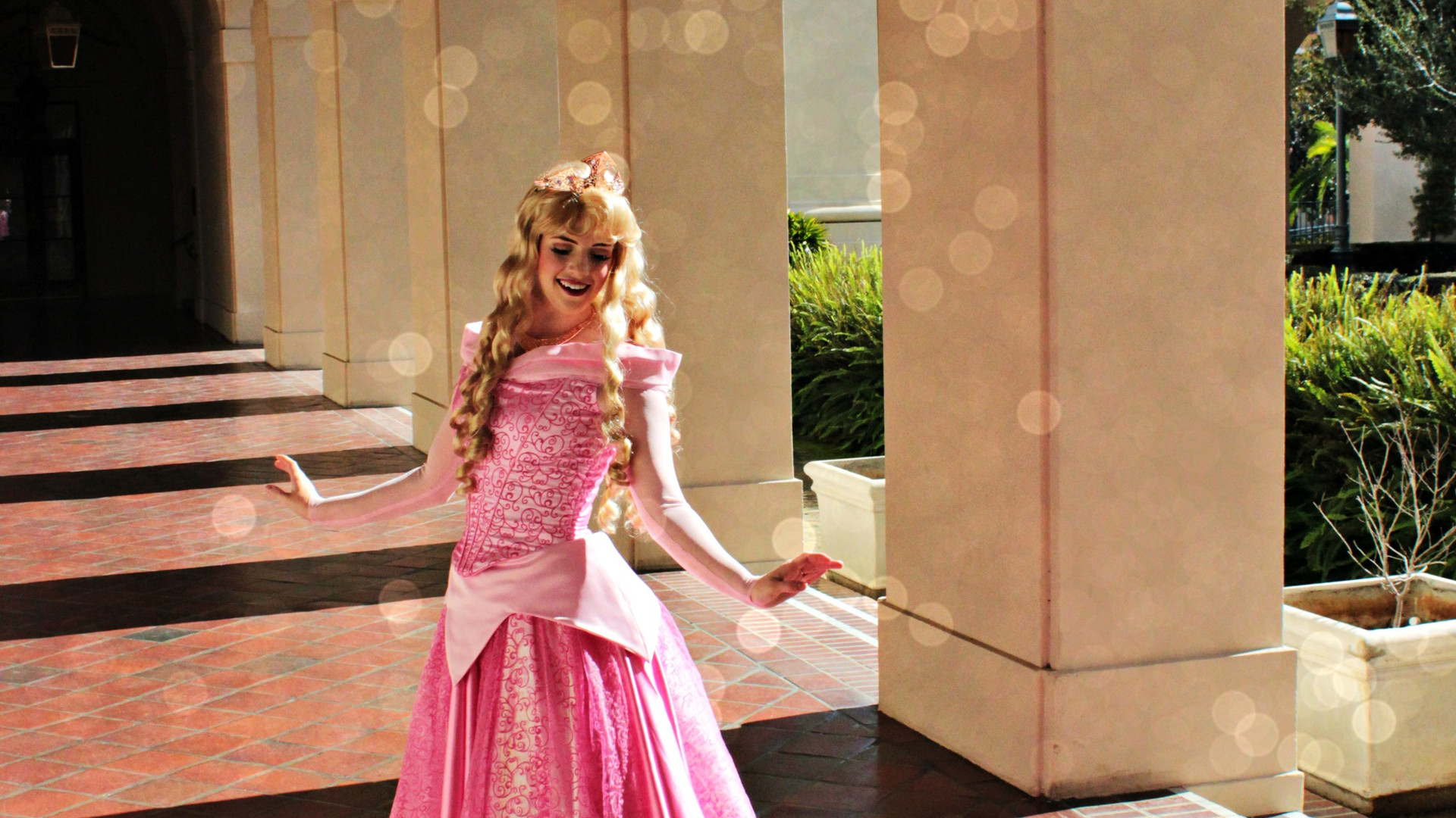 sleeping beauty aurora princess party character face los angeles