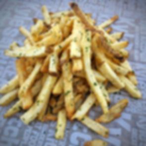 Our double-fried french fries are made from real potatoes and are hand cut daily.