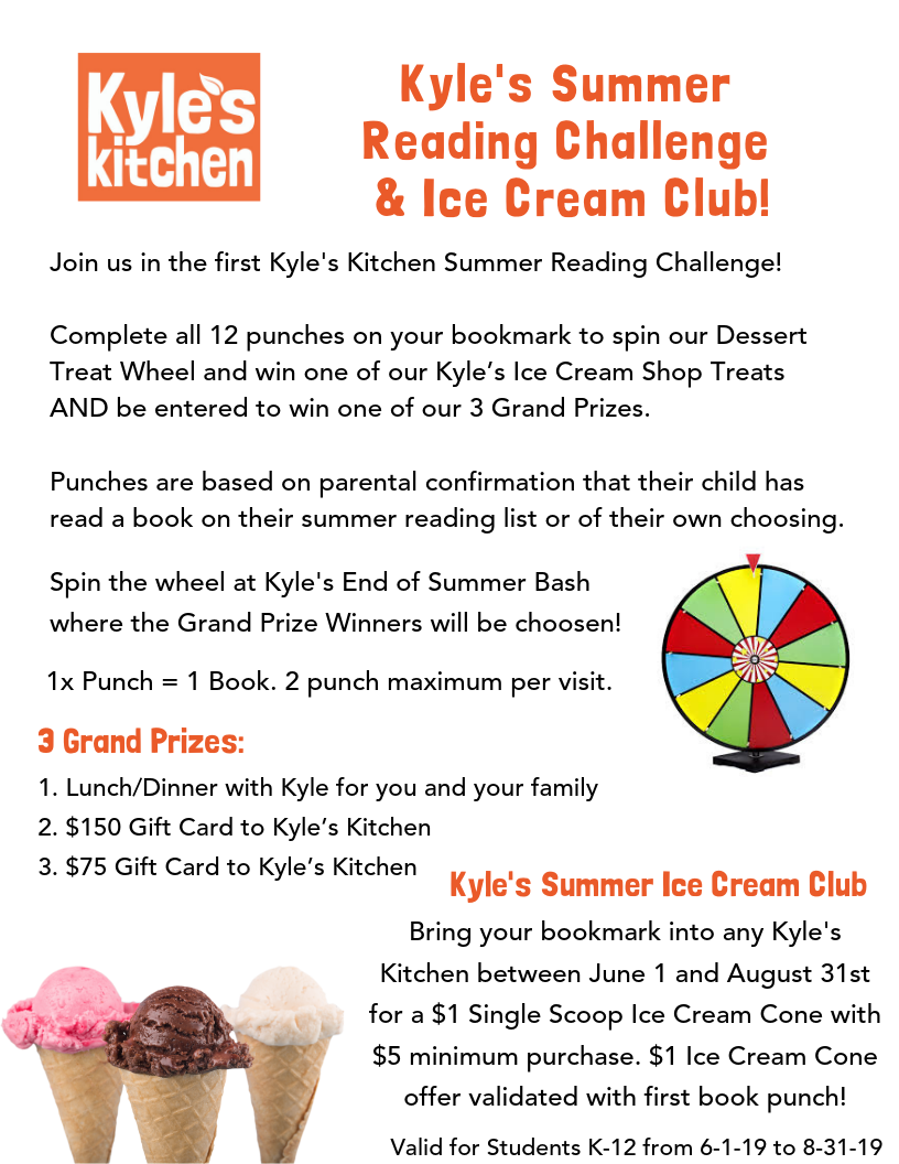Summer Reading Challenge & Ice Cream Club