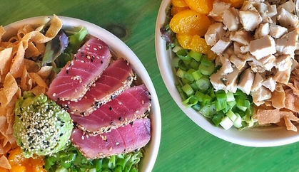 Ahi Salad & Mandarin Chicken Salad
