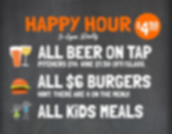 $4.50 Daily Happy Hour 3p-6p