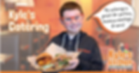 Kyle holding food.
