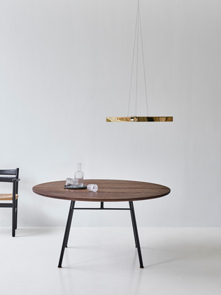 CORDUROY TABLE+BM2_smoked oak+black lacq