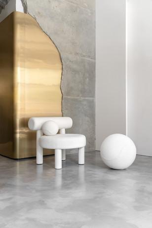 Low Chair Gropius CS1 by NOOM in Boucle