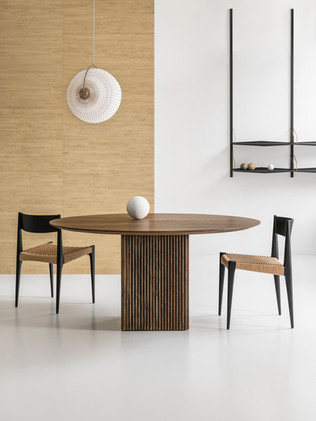 TEN TABLE ROUND_Ø150_smoked oak_with lam