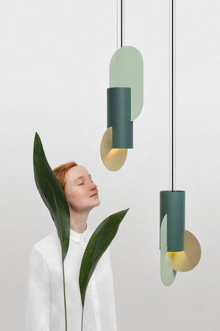 Suprematic Lamp CS5 in brass by NOOM_art