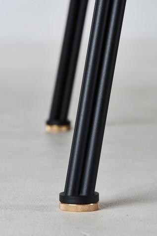 CORDUROY TABLE_leg_black powder coated s