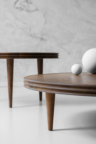 GROOVE COFFEE TABLE_smoked oak_Ø80+Ø110c