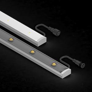 Архитектурный линейный светодиодный светильник luxline-a для контурной подсветки фасадов зданий