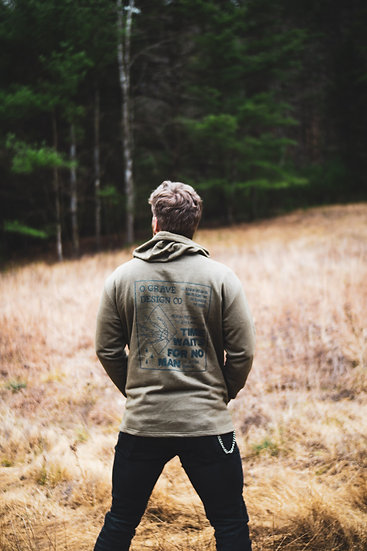 TIME - HOODED PULLOVER