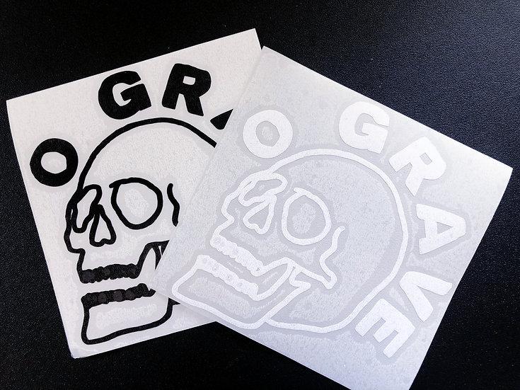 O Grave Big Skull Vinyl Sticker