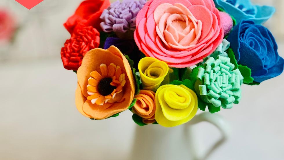 Pastel Rainbow Flowers