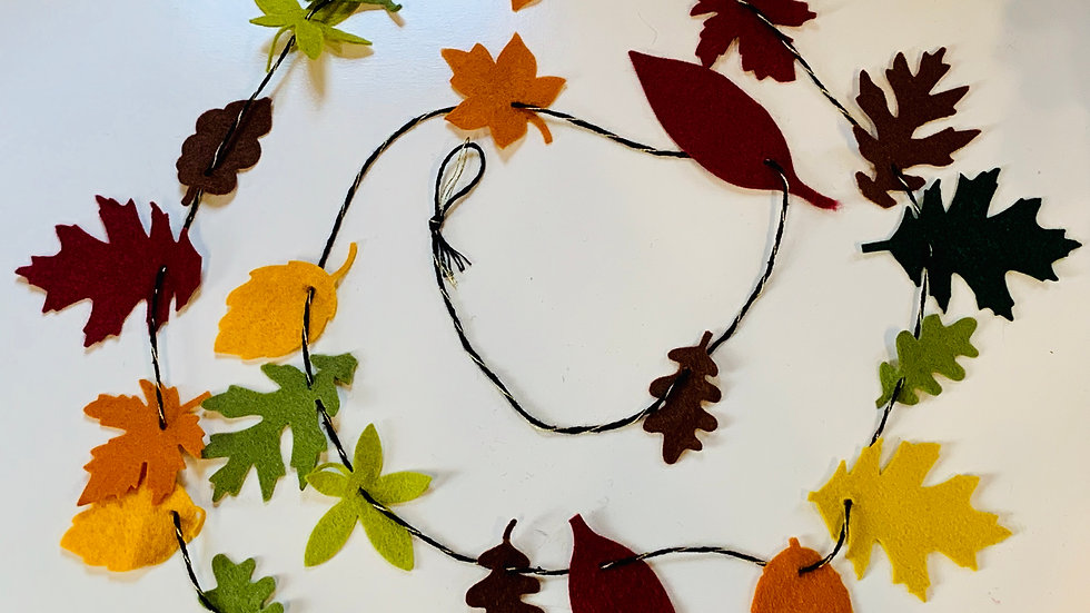Autumn Leaf Plastic Free Garland