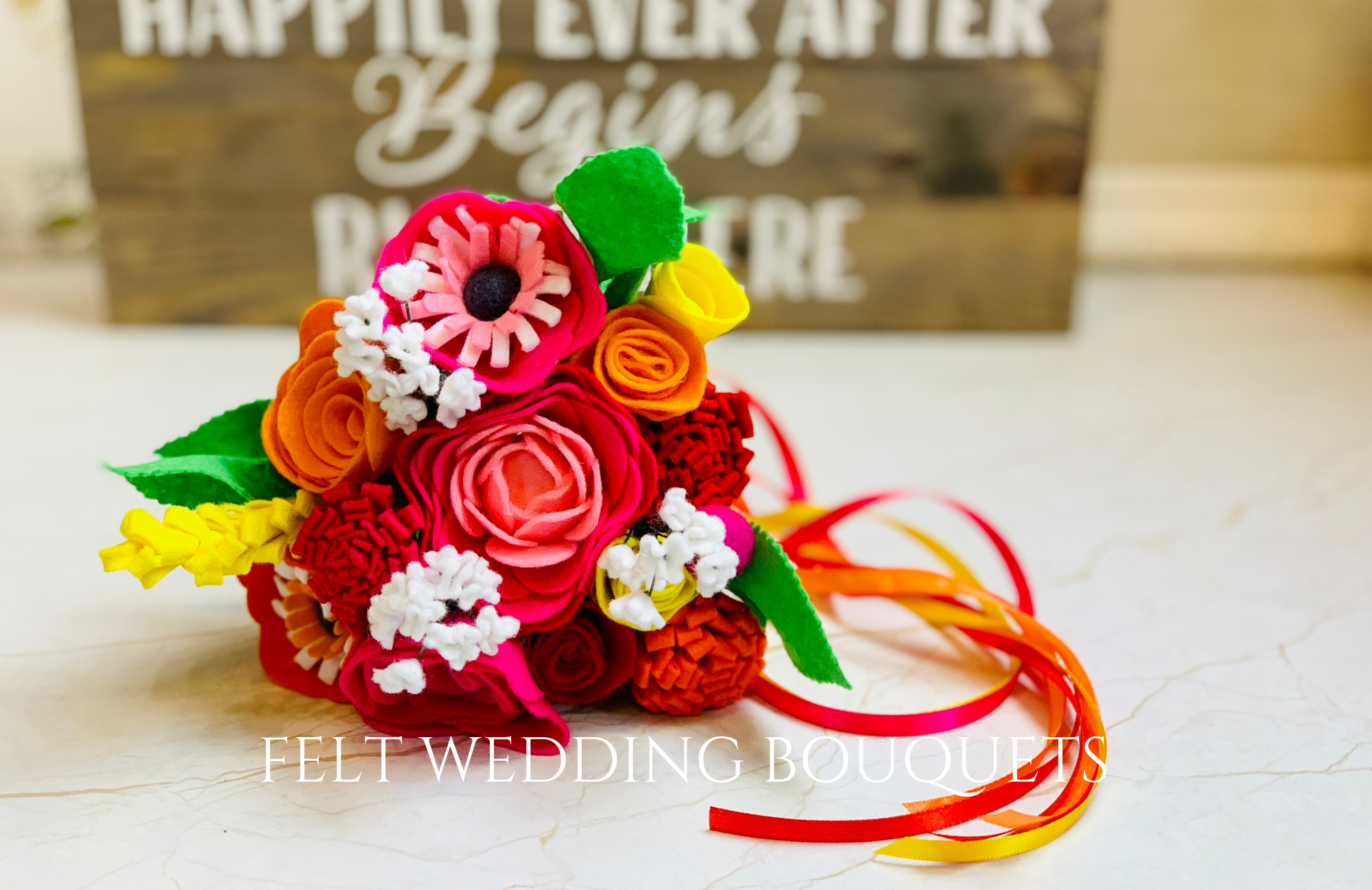 Felt Wedding Bouquets