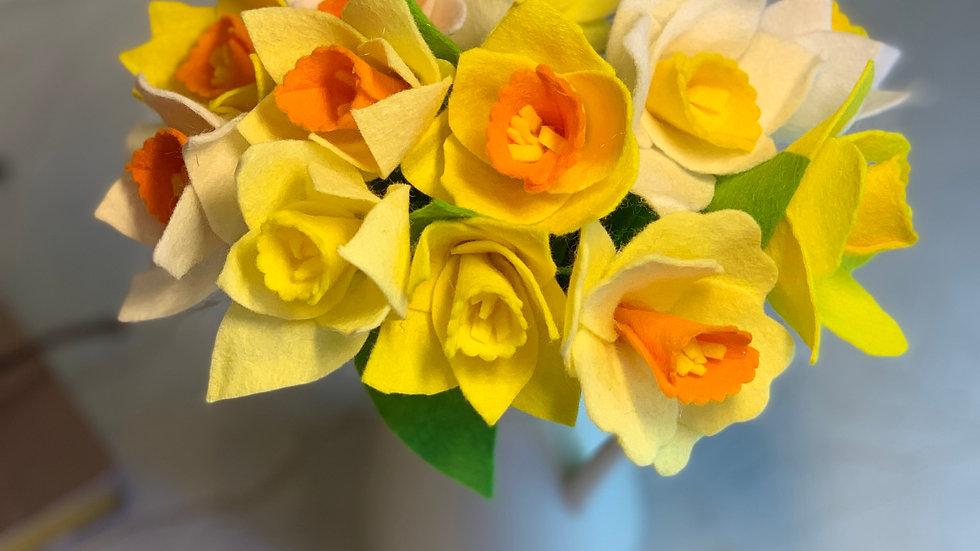 Yellow Felt Daffodils