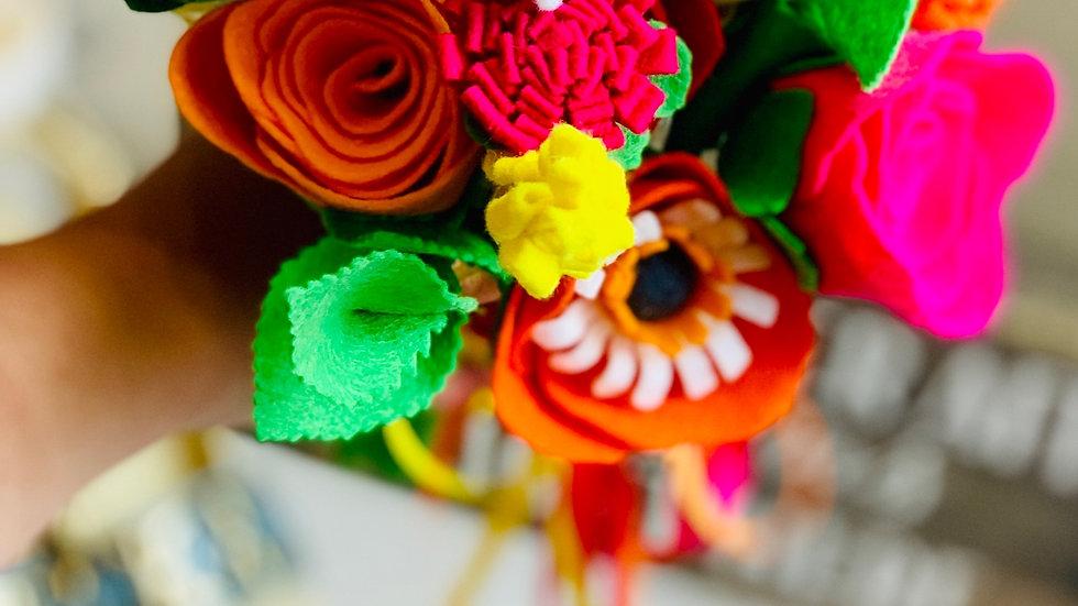 Vibrant Pink, Yellow and Orange Wedding Flowers