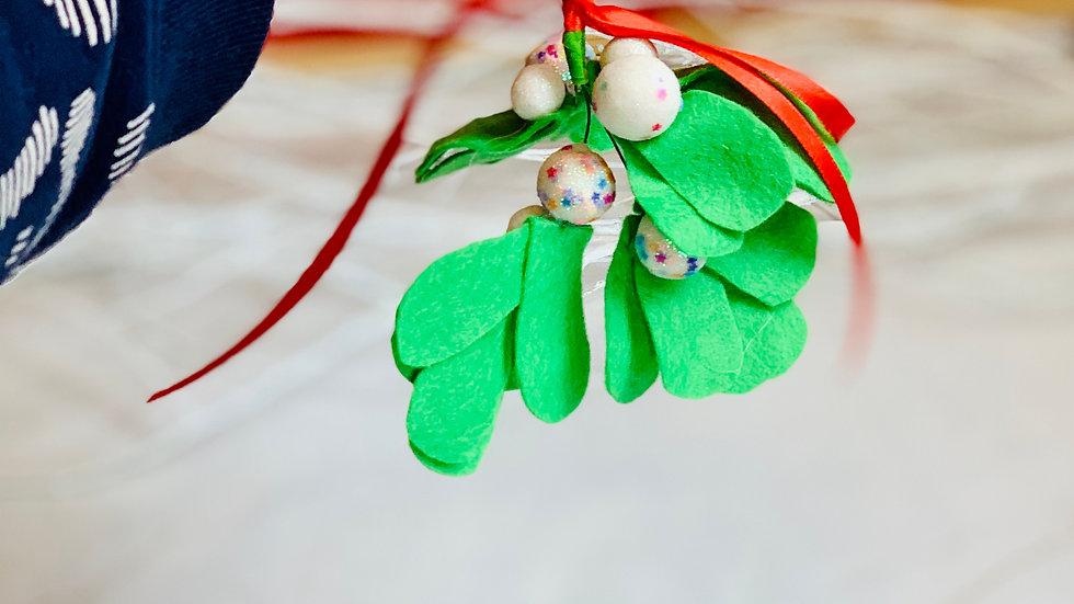 Christmas Mistletoe with Rainbow Glitter Balls