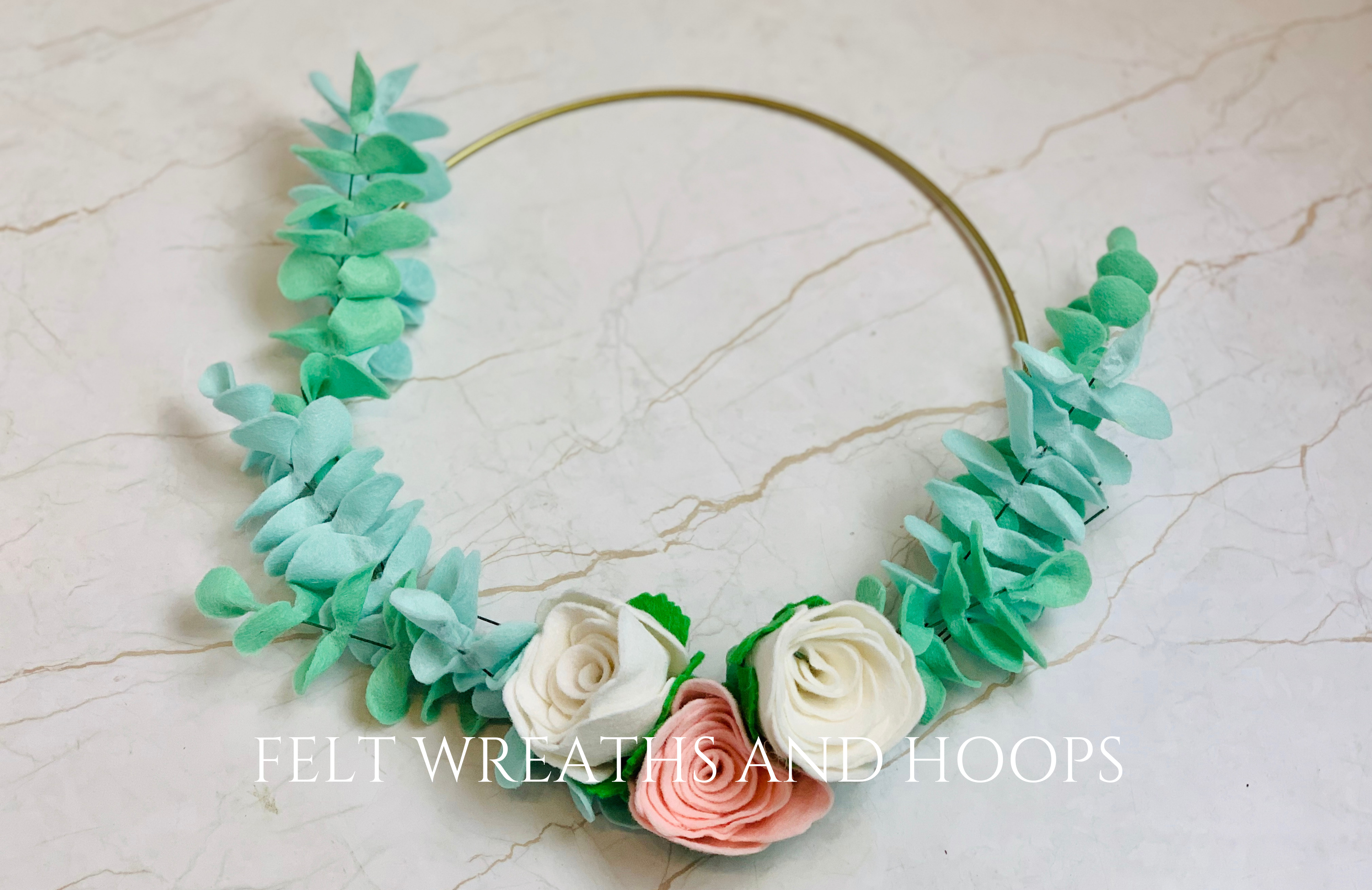 Felt Flower Wreaths & Hoops