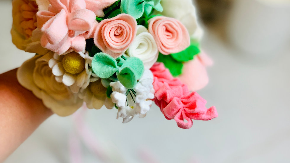 Blush and Cream Bridesmaid Bouquet