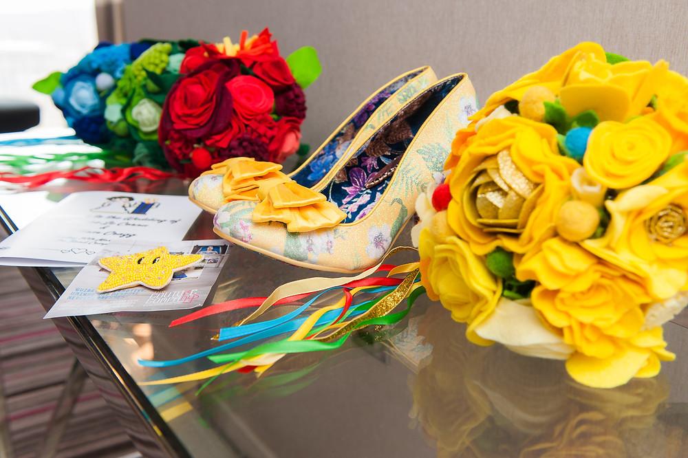 Wedding flowers in a Nintendo theme