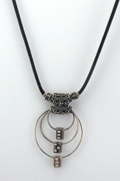 "Concentric Circles ""LOL"" Necklace"