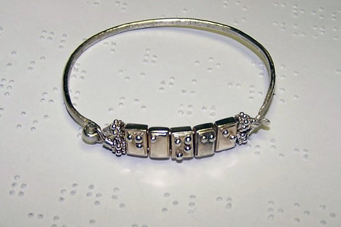 Braille Cell I.D. Style Bracelet