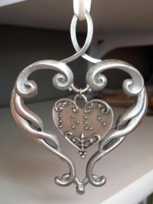 "Double Heart""Love Ornament"