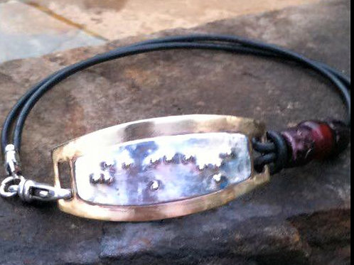 Brass and Sterling Silver I.D. Bracelet