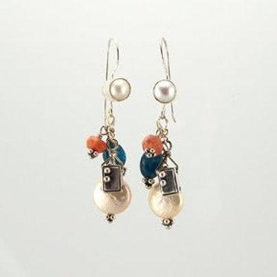 Fall Pearl Earrings