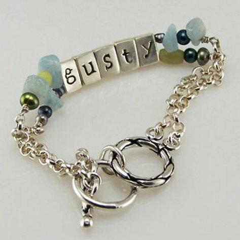 Gemstone and Pearl I.D. Bracelet