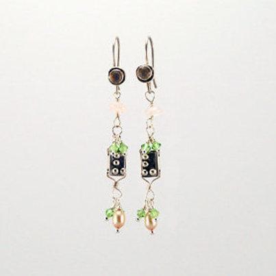 Gemstone Drops Earrings