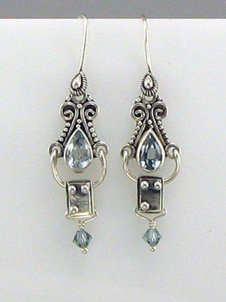 Victorian Initial Earrings