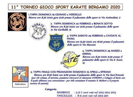 11° Torneo Gioco Sport Karate Bergamo 2020